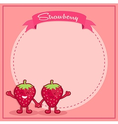 Strawberry icon character notes vector
