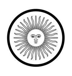 symbol of argentina - iconic design vector image