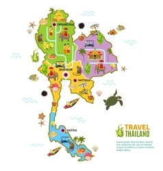 Thailand map poster vector