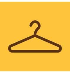 The hanger icon Coat rack symbol Flat vector image