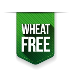 Wheat free sign ribbon vector