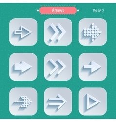 Set of Arrow Sign Icons vector image