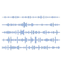 Set audio line eps 10 vector