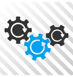 Transmission Gears Rotation Icon vector image
