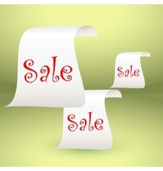 White paper roll vertical for sale design vector image