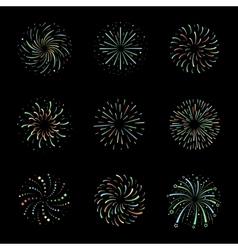 Celebration brightly festive firework bursts vector