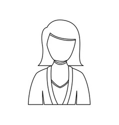 figure people formal woman icon vector image