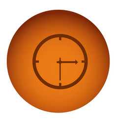 orange emblem clock icon vector image