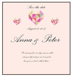 Wedding invitation with poem vector