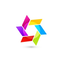 Abstract icon in vivid colors vector
