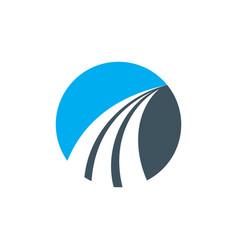 Abstract circle arrow business logo vector