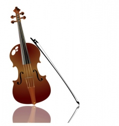 Bow and violin vector