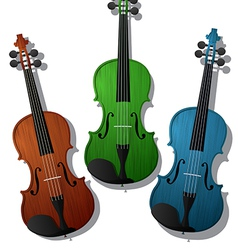 Colored violins vector
