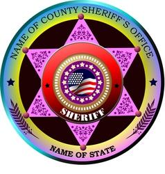 al 0433 sheriff 01 vector image