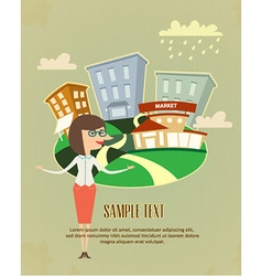 Company business flyer vector
