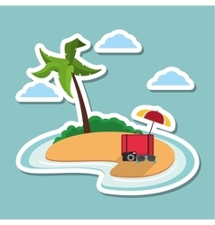 Icon of vacations design vector