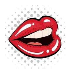Female mouth icon pop art design graphic vector