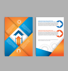 abstract brochure design template with gear vector image