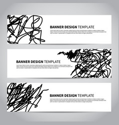 banner covers with abstract hand drawn pattern vector image