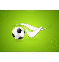 Bright soccer logo design vector image vector image