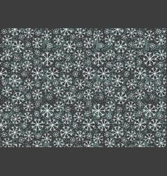 Cartoon snowflackes on gray texture vector