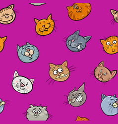 cartoon wallpaper with cats vector image vector image