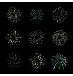 Celebration Brightly festive firework bursts vector image vector image