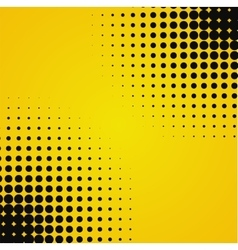 Colored yellow black halftone background vector image