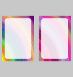 Colorful computer generated art frame set vector
