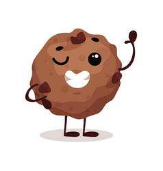 cute funny donut cartoon character vector image
