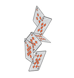 Falling diamonds suit french playing cards related vector