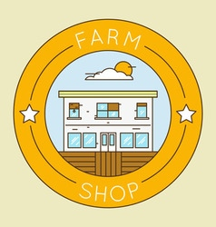 Farm shop - emblem logotype pack vector image vector image