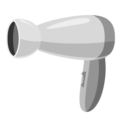 Hairdryer icon gray monochrome style vector image