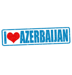 I love azerbaijan stamp vector