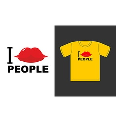 I love people Symbol of love kiss Logo for vector image