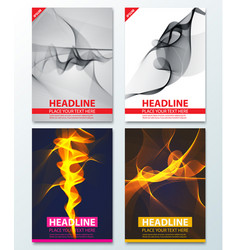 modern abstract brochure report or flyer design vector image