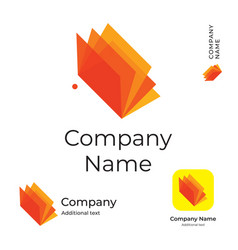 Modern bright colorful book or brochure logo vector