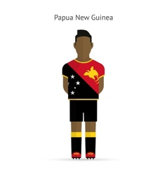 Papua new guinea football player soccer uniform vector
