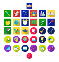 pencils education attributes and other web icon vector image