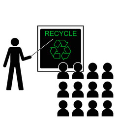 recycling lecture vector image