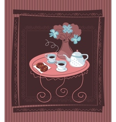 Romantic Table Background vector image