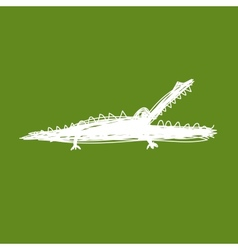Sketch of funny crocodile for your design vector image vector image