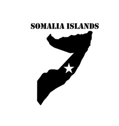 Symbol of somalia islands and map vector