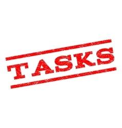 Tasks Watermark Stamp vector image vector image