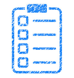 Test form grunge icon vector