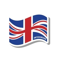 United kingdom patriotic flag isolated icon vector