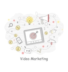 Video marketing banner vector