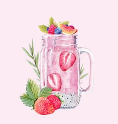 Watercolor smoothie vector