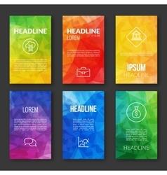 Web Design Set Template Business triangular vector image