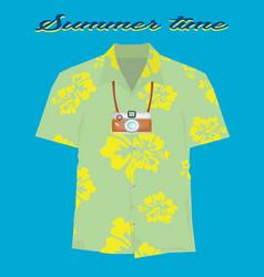 Vintage summer vecetion time background vector